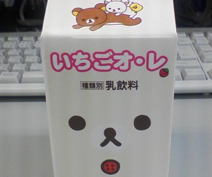 rilakkuma, japanese, and milk image