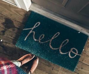 home, girl, and hello image