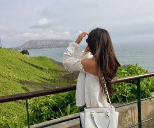 brunette, lima, and nature image