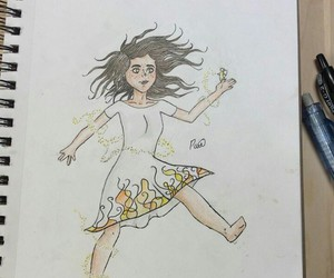 drawing, girl, and 2days image