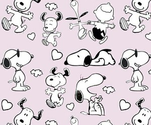 snoopy, wallpaper, and pink image