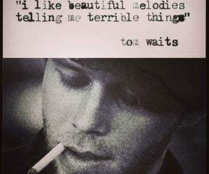 quote, tom waits, and melody image