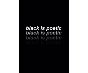 black, nero, and poetic image