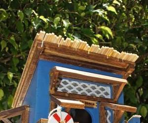 bird house, ladder, and beach shack image