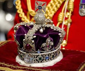 crown, sapphires, and diamonds image