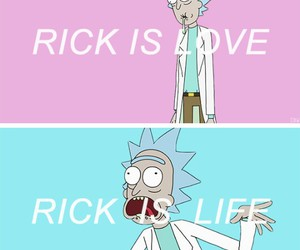 blue, life, and rick and morty image