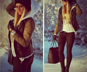 fashion, winter, and girl image