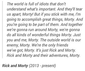 quote and rick and morty image