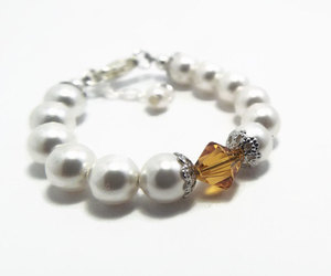 etsy, baby jewelry, and baby pearl bracelet image