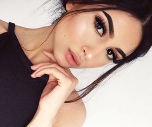 black, model, and brown hair image