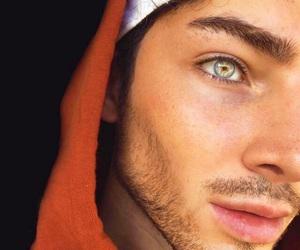 beard, daddy, and green eyes image