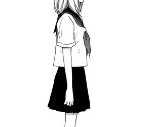 black&white, clothes, and girl image