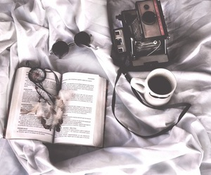 bed, chill, and book image