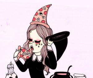 pizza, art, and valfre image