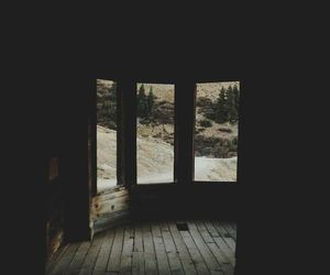 dark, nature, and vintage image