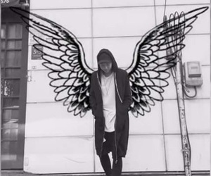 wings, bts, and rap monster image
