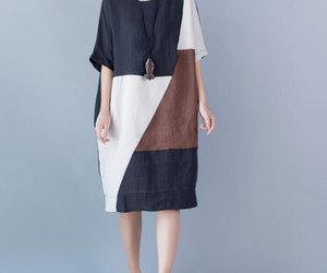 dress, fashion, and cotton dress image