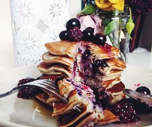 food, sweet, and pancakes image