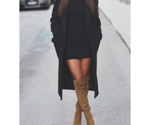 black, dress, and jeans image