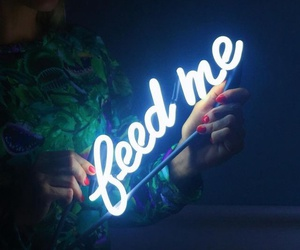 neon, feed me, and light image