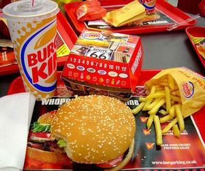 food, burger king, and burger image