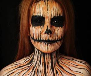 makeup, pumpkin, and Halloween image