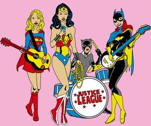 wonder woman, batgirl, and justice league image