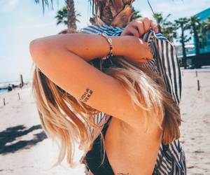 beach, bikini, and tattoo image