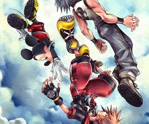 kingdom hearts, sora, and riku image