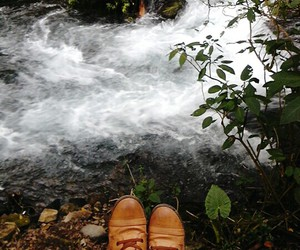 boots, nature, and water image