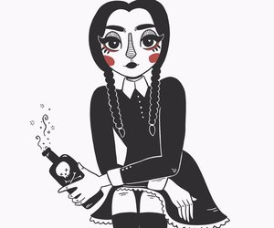 charlavail, inktober, and the addams family image