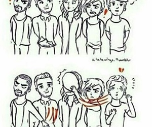 one direction, ziam, and larry image