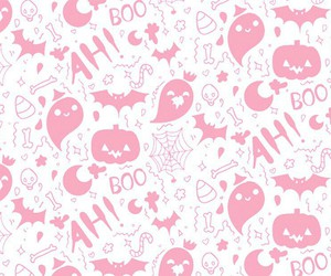 background, Halloween, and pink image