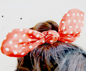cute, bow, and hair image
