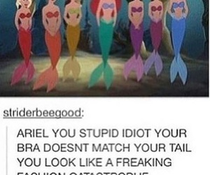ariel, funny, and disney image