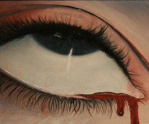 eye, art, and blood image
