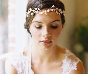 girl, wedding, and hair image