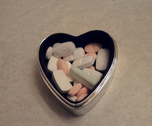 pills, drugs, and heart image