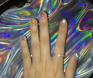 diy, hologram, and nail image
