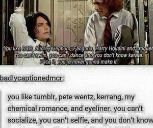 funny, lol, and mcr image
