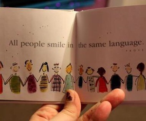 smile, people, and language image