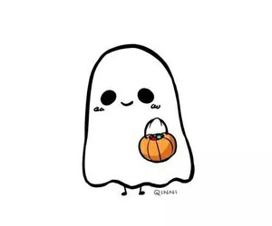 ghost, Halloween, and happy halloween image