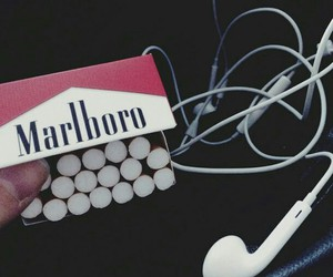 marlboro, cigarette, and music image