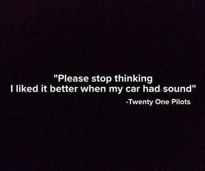 Lyrics, twenty one pilots, and band image