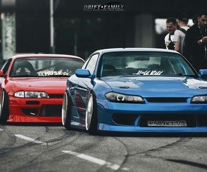 blue, cars, and drift image