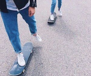 jeans, skate, and tumblr image