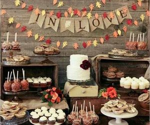 autumn, fall, and wedding image