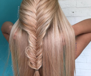 blond, fashion, and hairstyle image
