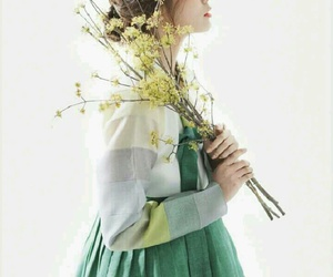 green and hanbok image