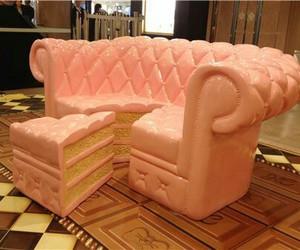 cake, pink, and food image